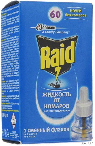 """Жидкость от комаров для электрофумигатора """"Raid. 60 ночей"""" — фото, картинка"""