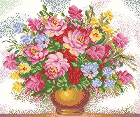 """Алмазная вышивка-мозаика """"Красивый букет"""" (550х480 мм) — фото, картинка"""
