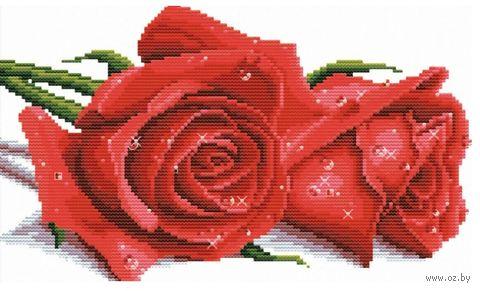 """Вышивка крестом """"Красные розы"""" (410х270 мм) — фото, картинка"""