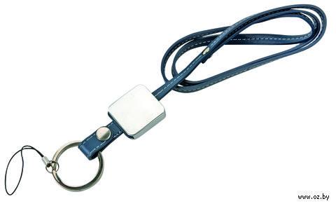 Ремешок для ношения мобильного телефона на шее с фоторамкой (синий) — фото, картинка