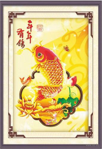 """Алмазная вышивка-мозаика """"Золотая рыбка"""""""