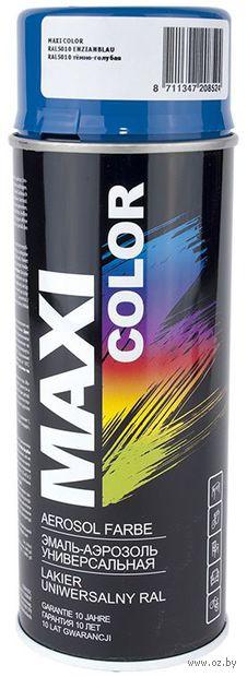 """Эмаль аэрозольная """"Maxi Color"""" (темно-голубая) — фото, картинка"""
