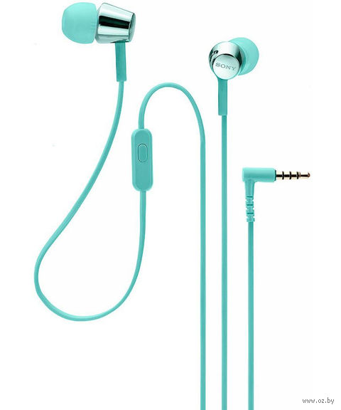 Наушники с микрофоном Sony MDR-EX155APLI (голубые) — фото, картинка