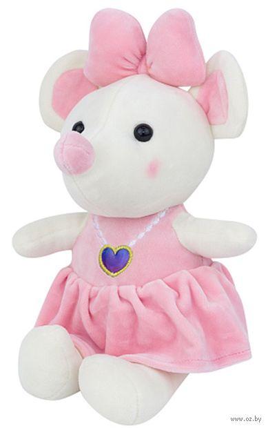 """Мягкая игрушка """"Мышка с сердечком"""" (25 см; розовая) — фото, картинка"""