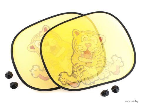 Набор экранов солнцезащитных пластмассовых на присосках, 2 шт (38*44 см)