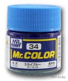 Краска Mr. Color (sky blue, C34)