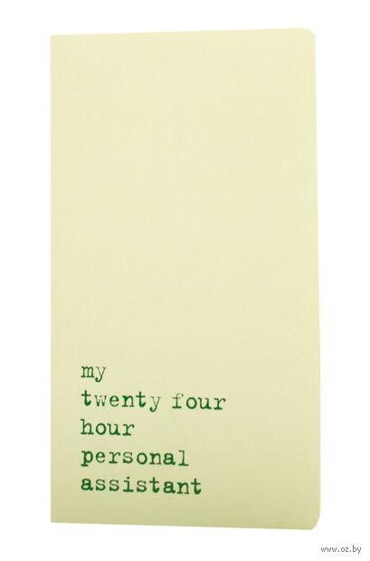 "Записная книжка в линейку ""Chapter. My Twenty Four Hour"" (115х210 мм; светло-зеленая) — фото, картинка"