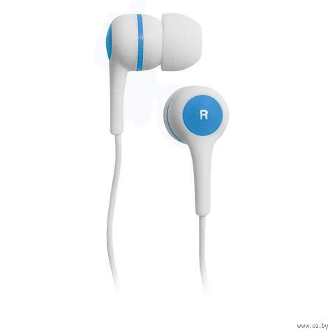 Наушники BBK EP-1260S (бело-синие) — фото, картинка