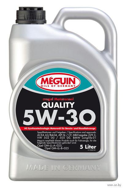 """Масло моторное """"Megol Quality"""" 5W-30 (5 л) — фото, картинка"""