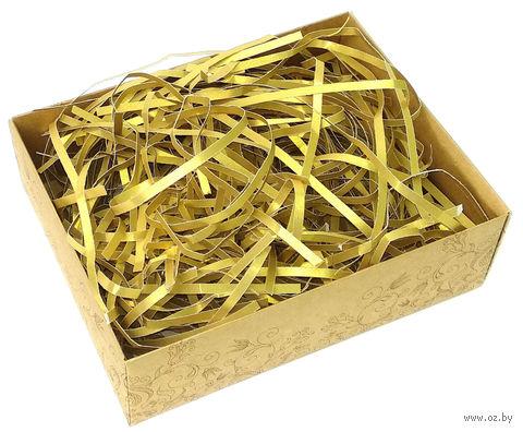 Стружка бумажная (золотая; 100 г) — фото, картинка
