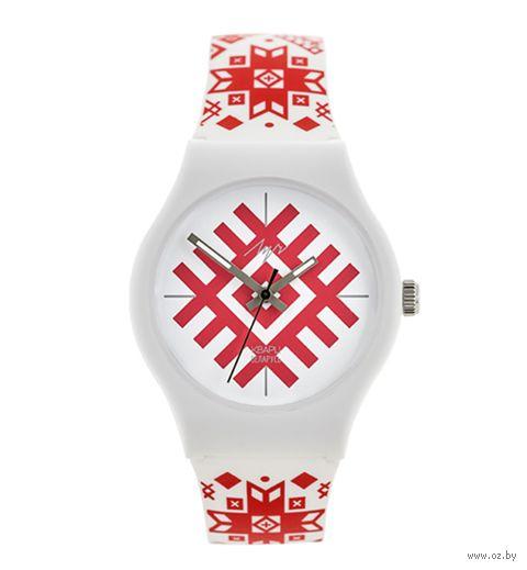 "Часы наручные ""Вышиванка"" (белые; арт. 729345348) — фото, картинка"