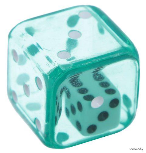 """Кубик D6 """"Кубик в кубике"""" (19 мм; зеленый) — фото, картинка"""