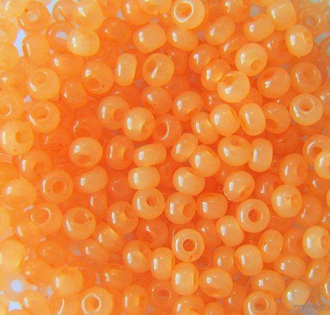 Бисер №02184 (светло-оранжевый; алебастровый; 10/0) — фото, картинка
