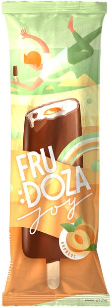 "Мороженое эскимо ""Frudoza Joy. Йогурт-абрикос"" (65 г) — фото, картинка"