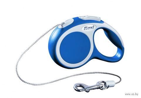 """Поводок-рулетка для собак """"Vario"""" (синий, размер XS, до 8 кг/3 м, арт. 12002)"""