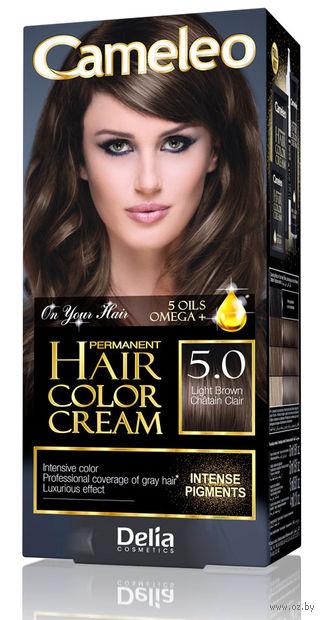 """Крем-краска для волос """"Cameleo"""" (тон: 5.0, светло-коричневый) — фото, картинка"""