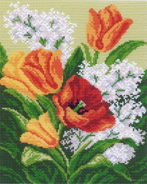 """Канва с нанесенным рисунком """"Полевые цветы"""" (арт. 769)"""