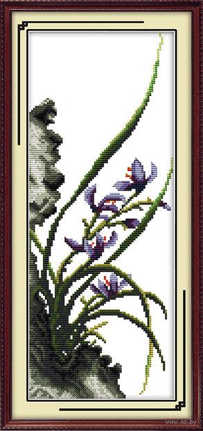 """Алмазная вышивка-мозаика """"Ирисы"""" (180х400 мм) — фото, картинка"""