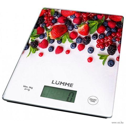 Кухонные весы Lumme LU-1340 (лесная ягода) — фото, картинка