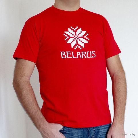 """Футболка мужская Vitaem """"Belarus"""" (красная) (M)"""