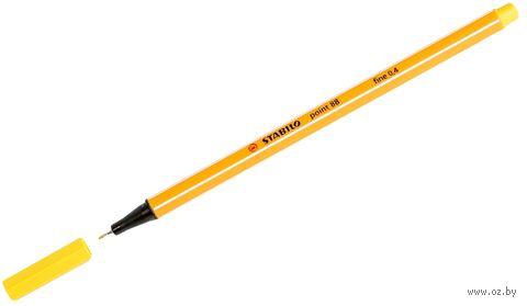 """Ручка капиллярная """"Point 88"""" (желтая; 0,4 мм)"""