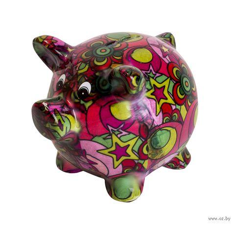 """Копилка """"Свинка с цветочным принтом"""" — фото, картинка"""
