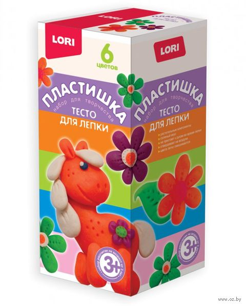 "Тесто для лепки ""Набор №15"" (6 цветов) — фото, картинка"