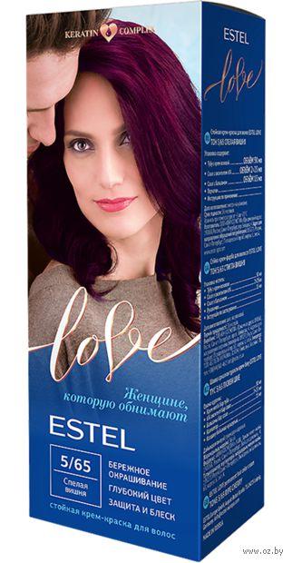 """Крем-краска для волос """"Estel Love"""" (тон: 5/65, спелая вишня) — фото, картинка"""