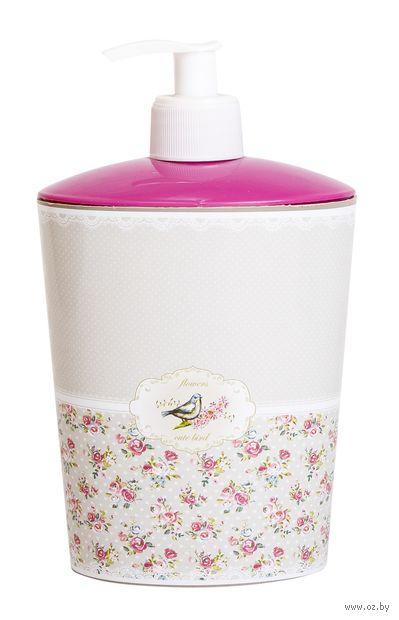 Дозатор для жидкого мыла пластмассовый (110х80х180 мм; арт. D050-X51) — фото, картинка