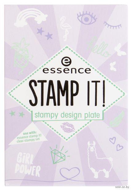 "Трафарет для дизайна ногтей ""Stamp it. Stampy Design Plate"" (тон: 01) — фото, картинка"