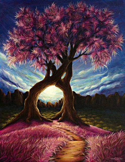 "Алмазная вышивка-мозаика ""Дерево"" (530х660 мм) — фото, картинка"