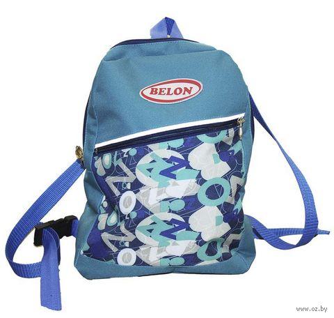 """Рюкзак """"Синие буквы"""" — фото, картинка"""