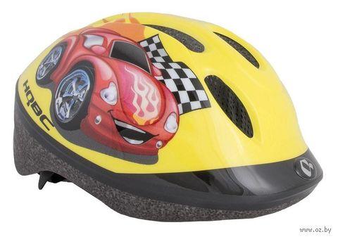 """Шлем велосипедный """"Funq Red Car"""" (желтый; р. 48-54) — фото, картинка"""