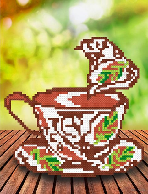 "Алмазная вышивка-мозаика ""Ароматный чай"" (250х190 мм) — фото, картинка"