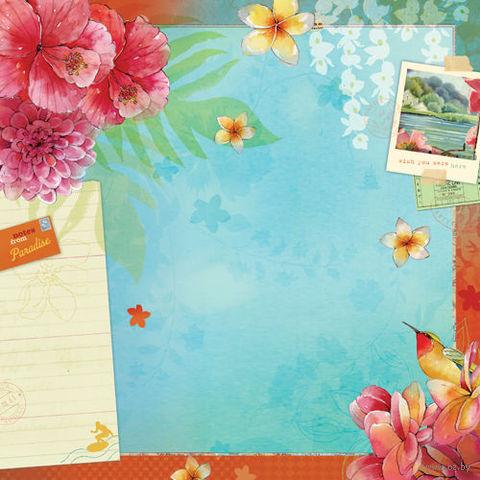 """Бумага для скрапбукинга """"Вокруг света. Рай"""" (310х310 мм; 25 листов)"""