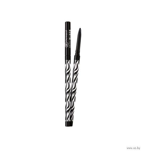"""Микро-карандаш для глаз """"Dermacol"""" (тон: черный)"""