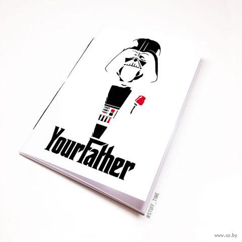 """Блокнот белый """"Дарт Вейдер. Крестный отец"""" А5 (009)"""