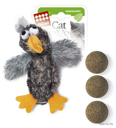 """Игрушка для кошек """"Утка"""" с кошачьей мятой (13 см)"""