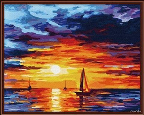 """Картина по номерам """"Закат на море"""" (400х500 мм) — фото, картинка"""