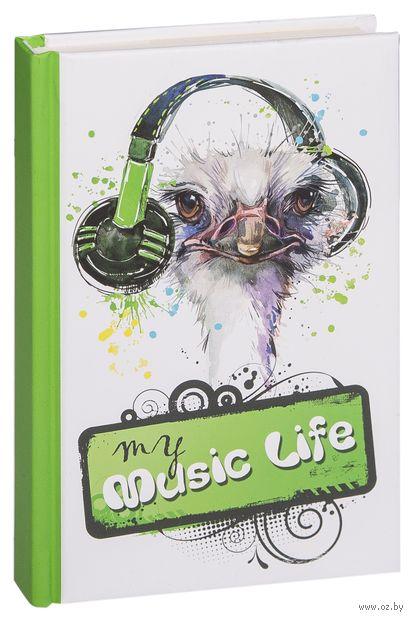 "Блокнот ""My music life"" (А6) — фото, картинка"