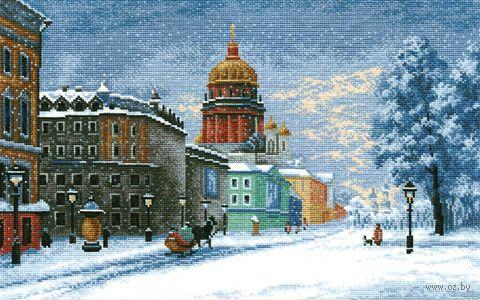 "Вышивка крестом ""Исаакий. Санкт-Петербург"" (510х320 мм) — фото, картинка"