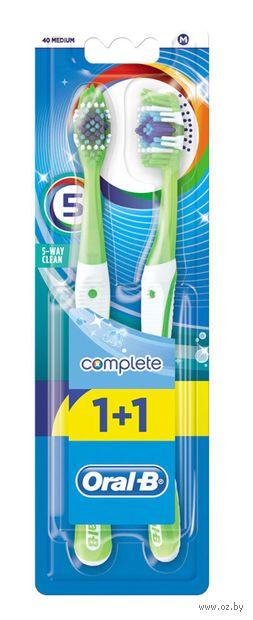 """Зубная щетка """"Oral-B Complete. Пятисторонняя чистка"""" (средней жесткости, 2 шт.) — фото, картинка"""