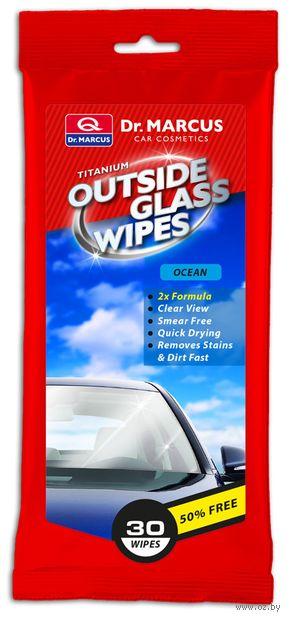 """Салфетки влажные для чистки стёкол снаружи """"Океан"""" (30 шт.) — фото, картинка"""
