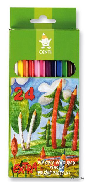 """Цветные карандаши """"Особо гибкие"""" 2164 (24 цвета)"""