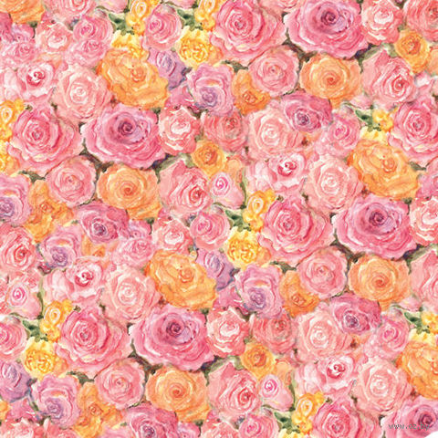 """Бумага для скрапбукинга """"Весна. Розы"""" (310х310 мм; 25 листов)"""