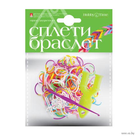 """Набор для плетения из резиночек """"Яркие. Двухцветные"""" (300 шт.) — фото, картинка"""
