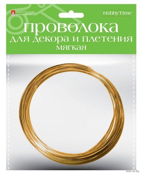 Проволока для плетения (3 м; золотая; арт. 2-621/02) — фото, картинка
