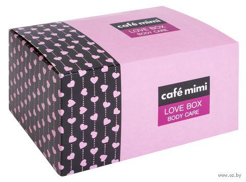 """Подарочный набор """"Love Box"""" (крем, мыло, соль для ванны, мочалка) — фото, картинка"""