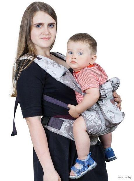 """Слинг-рюкзак """"Ренессанс"""" (серебряный) — фото, картинка"""