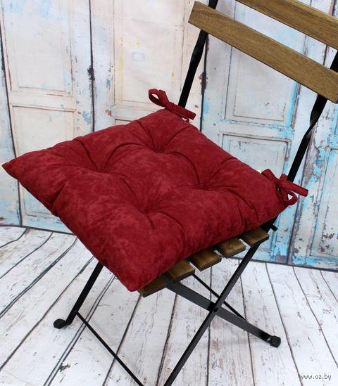 """Подушка на стул """"Velours. Burgundy"""" (42х42 см) — фото, картинка"""